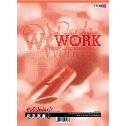 "LANDRÉ Briefblock ""Business Office Notes"", DIN A4, kariert"