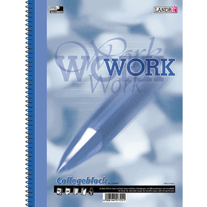 "LANDRÉ Collegeblock ""Business Office Notes"", DIN A4, liniert"