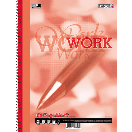 "LANDRÉ Collegeblock ""Business Office Notes"", DIN A4, kariert"