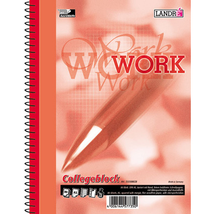 "LANDRÉ Collegeblock ""Business Office Notes"" DIN A5, kariert"