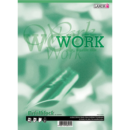 "LANDRÉ Briefblock ""Business Office Notes"", DIN A4, blanko"