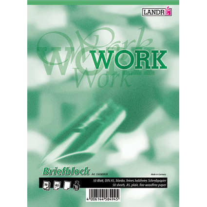 "LANDRÉ Briefblock ""Business Office Notes"", DIN A5, blanko"