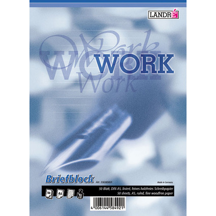 "LANDRÉ Briefblock ""Business Office Notes, DIN A5, liniert"