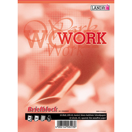 "LANDRÉ Briefblock ""Business Office Notes"", DIN A5, kariert"