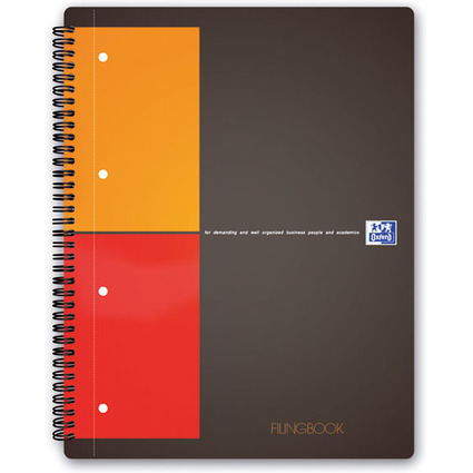 "Oxford International Collegeblock ""FILINGBOOK"", kariert, A4+"