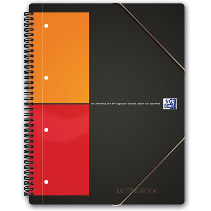 "Oxford International Collegeblock ""MEETINGBOOK"", kariert, A5"