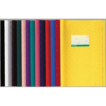 LANDRÉ Heftschoner DIN A4, geprägt (Bast), gelb, aus PP