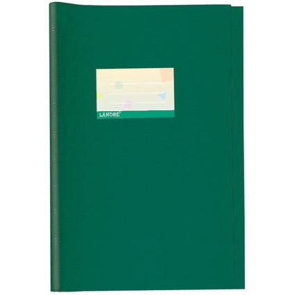 LANDRÉ Heftschoner DIN A4, geprägt (Bast), grün, aus PP