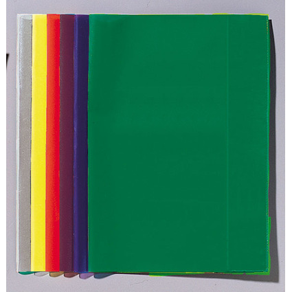 LANDRÉ Heftschoner DIN A4, transparent-blau, aus PP