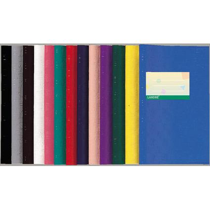 LANDRÉ Heftschoner DIN A5, geprägt (Bast), blau, aus PP