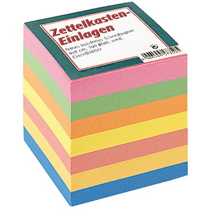 LANDRÉ Zettelboxeinlagen, 90 x 90 mm, bunt