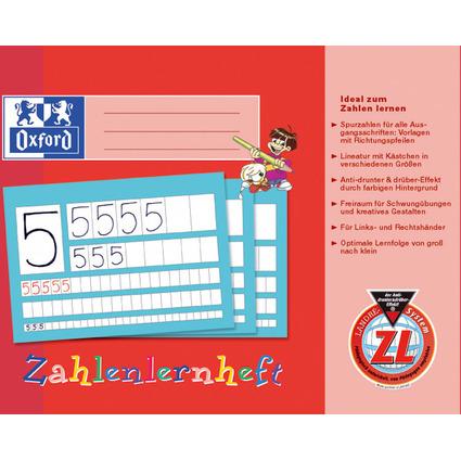 Oxford Zahlenlernheft, DIN A4 quer, Lineatur: ZL