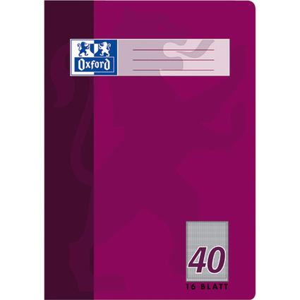 Oxford Schulheft, DIN A4, Lineatur 40/5 mm kariert, 16 Blatt