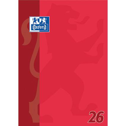 Oxford Schulblock DIN A4, 50 Blatt, kopfgeleimt, Lineatur 26