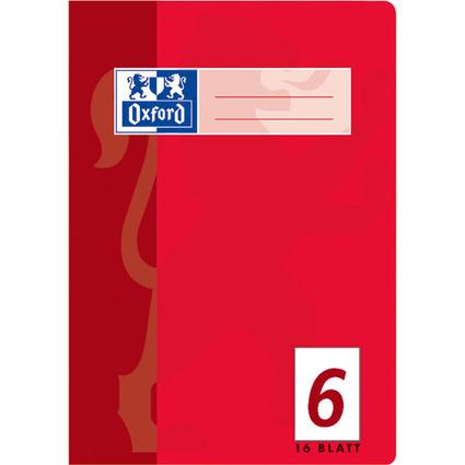 Oxford Schulheft, DIN A5, Lineatur 6 / blanko, 16 Blatt