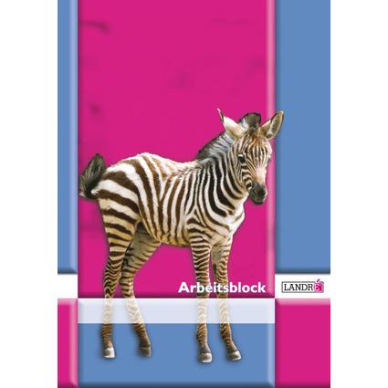 """LANDRÉ Arbeitsblock """"pro terra"""", DIN A4, Lineatur 3"""