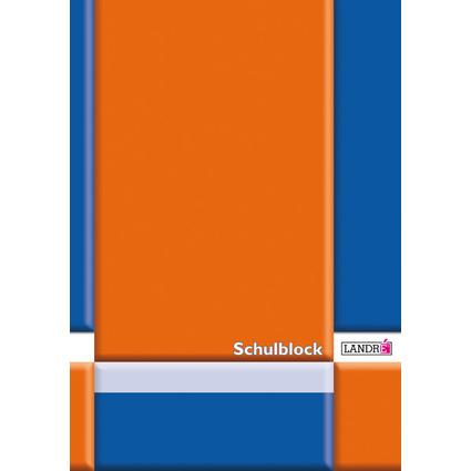 LANDRÉ Schulblock DIN A4, Lineatur 22 / kariert