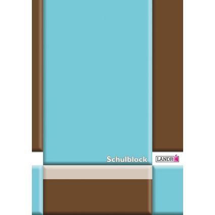 LANDRÉ Schulblock DIN A4, Lineatur 25 / liniert