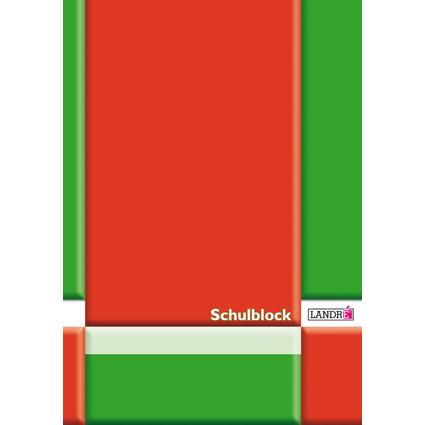 LANDRÉ Schulblock DIN A4, Lineatur 20 / blanko