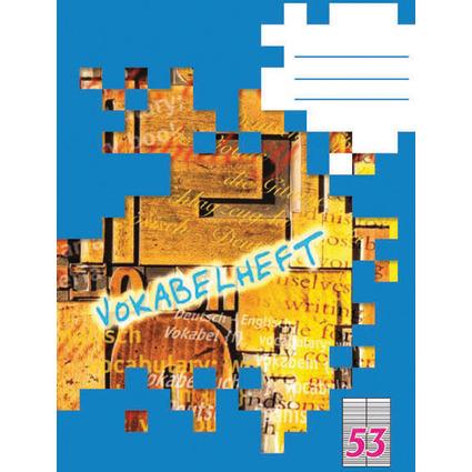 LANDRÉ Vokabelheft DIN A6, 2-spaltig, 70 g/qm, 32 Blatt