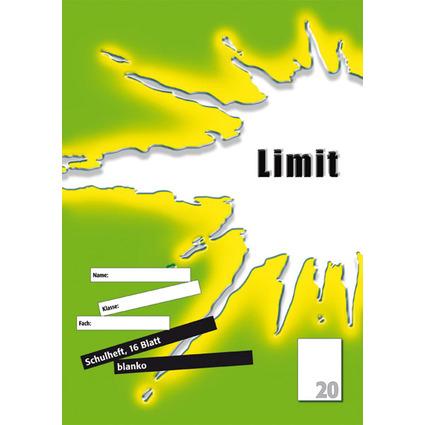 Limit Schulheft, DIN A4, Lineatur 20 / blanko