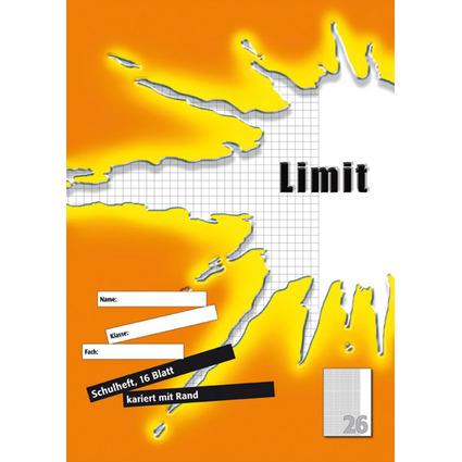 Limit Schulheft, DIN A4, Lineatur 26 / 5 mm kariert