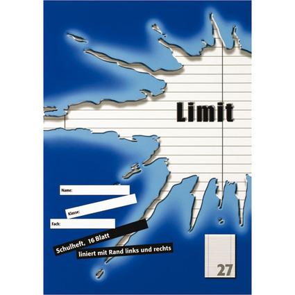 Limit Schulheft, DIN A4, Lineatur 27 / 9 mm liniert