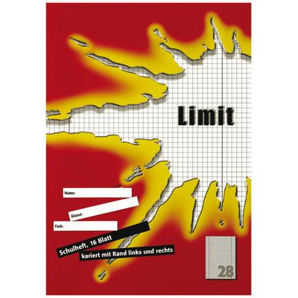 Limit Schulheft, DIN A4, Lineatur 28 / 5 mm kariert