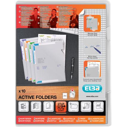 ELBA Sichthülle Active Folder, DIN A4, PP 0,14 mm