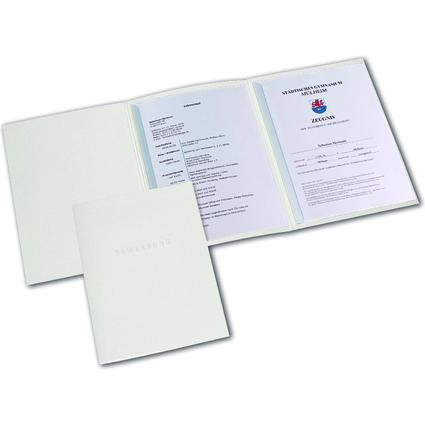 ELBA Bewerbungsmappe Metallic, Karton 320 g/qm, elfenbein