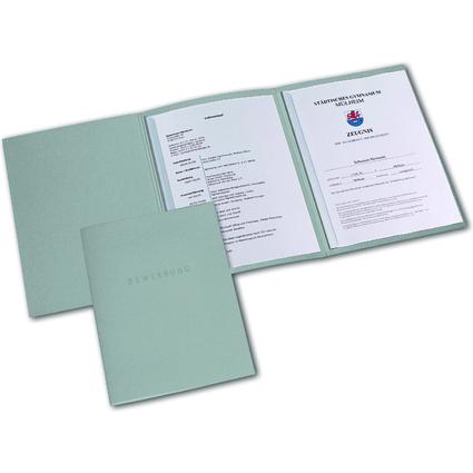 ELBA Bewerbungsmappe Metallic, Karton 320 g/qm, silber