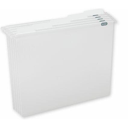 ELBA Pure File Hängemappe, DIN A4, aus PP, weiß