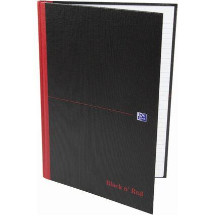 Oxford Black n' Red Notizbuch - gebunden, DIN A4, kariert