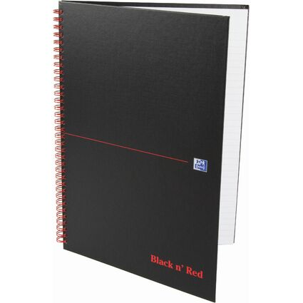 "Oxford Black n"" Red Spiralbuch, DIN A4, liniert, Karton"