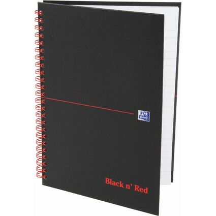 Oxford Black n' Red Collegeblock, DIN A5, kariert, Karton