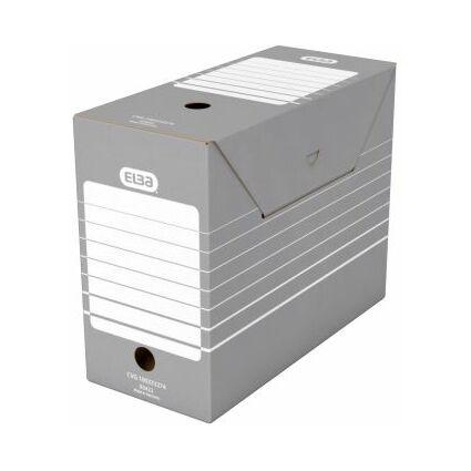 ELBA Archiv-Schachtel, Breite 150 mm, A4, grau / weiß