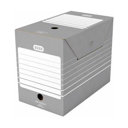 ELBA Archiv-Schachtel, Breite 200 mm, A4, grau / weiß