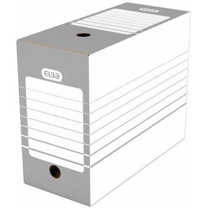 ELBA Archiv-Schachtel, Breite 150 mm, A4, weiß/grau