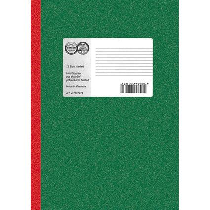 LANDRÉ Notizbuch DIN A5, 72 Blatt, 70 g/qm, kariert