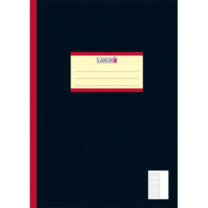 LANDRÉ Oberschulheft DIN A4, liniert, 9cm weißer Rand rechts