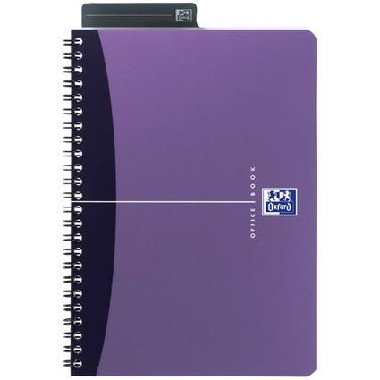 Oxford Office Spiralbuch, DIN A5, kariert, 90 Blatt, PP