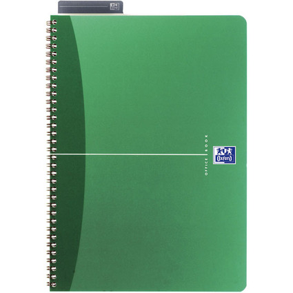 Oxford Office Spiralbuch, DIN A4, kariert, 90 Blatt, PP