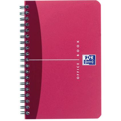 Oxford Office Spiralbuch, DIN A6, kariert, 90 Blatt, PP