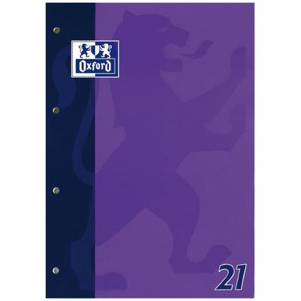 Oxford Schulblock DIN A4, 50 Blatt, kopfgeleimt, Lineatur 21