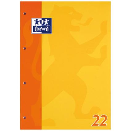 Oxford Schulblock DIN A4, 50 Blatt, kopfgeleimt, Lineatur 22