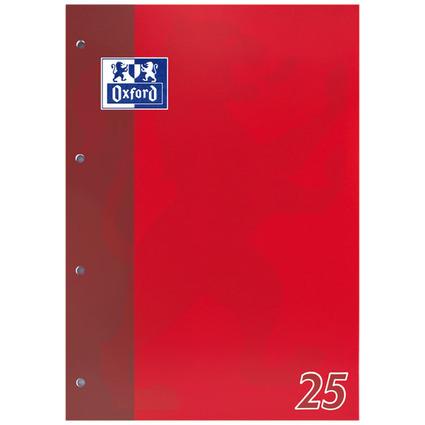 Oxford Schulblock DIN A4, 50 Blatt, kopfgeleimt, Lineatur 25