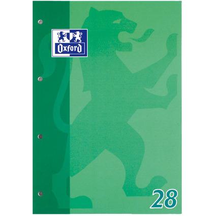 Oxford Schulblock DIN A4, 50 Blatt, kopfgeleimt, Lineatur 28