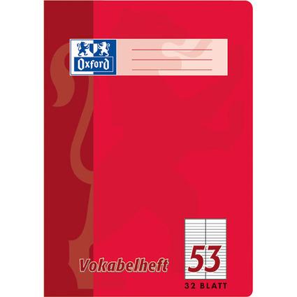 Oxford Vokabelheft, DIN A5, 32 Blatt, 2 Spalten, liniert