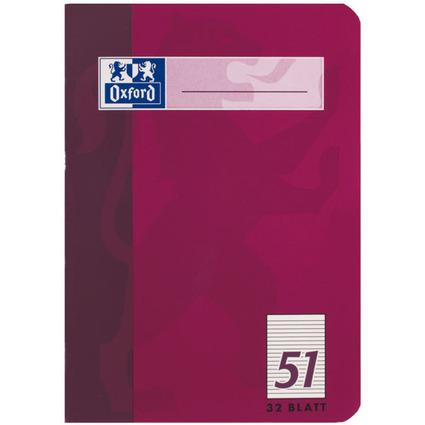 Oxford Oktavheft DIN A6, liniert, 90 g/qm, 32 Blatt