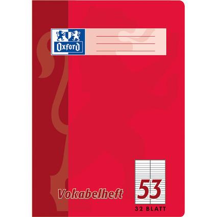 Oxford Vokabelheft, DIN A6, 32 Blatt, 2 Spalten, liniert
